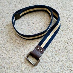 🌵GAP Striped Canvas Leather Belt M